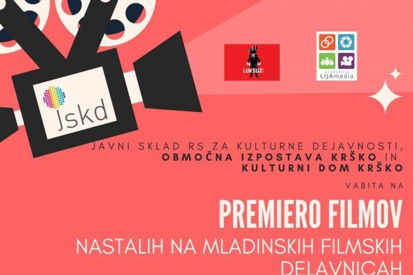 PREMIERA FILMOV nastalih na mladinskih filmskih delavnicah – Kulturni dom Krško